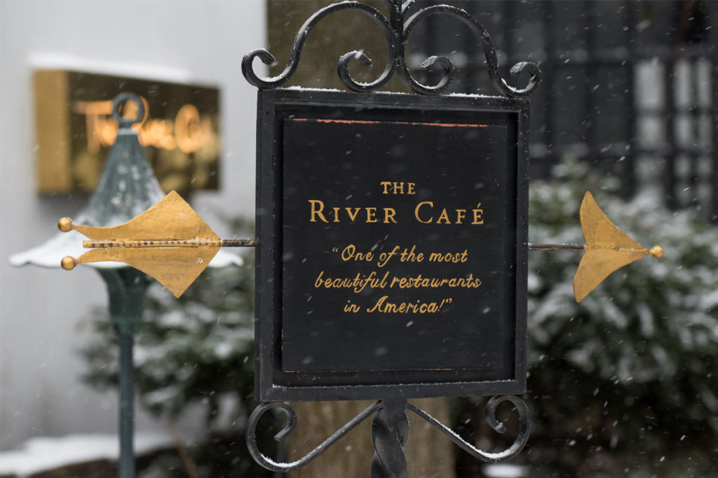 The River Cafe restaurant; Dumbo; New York
