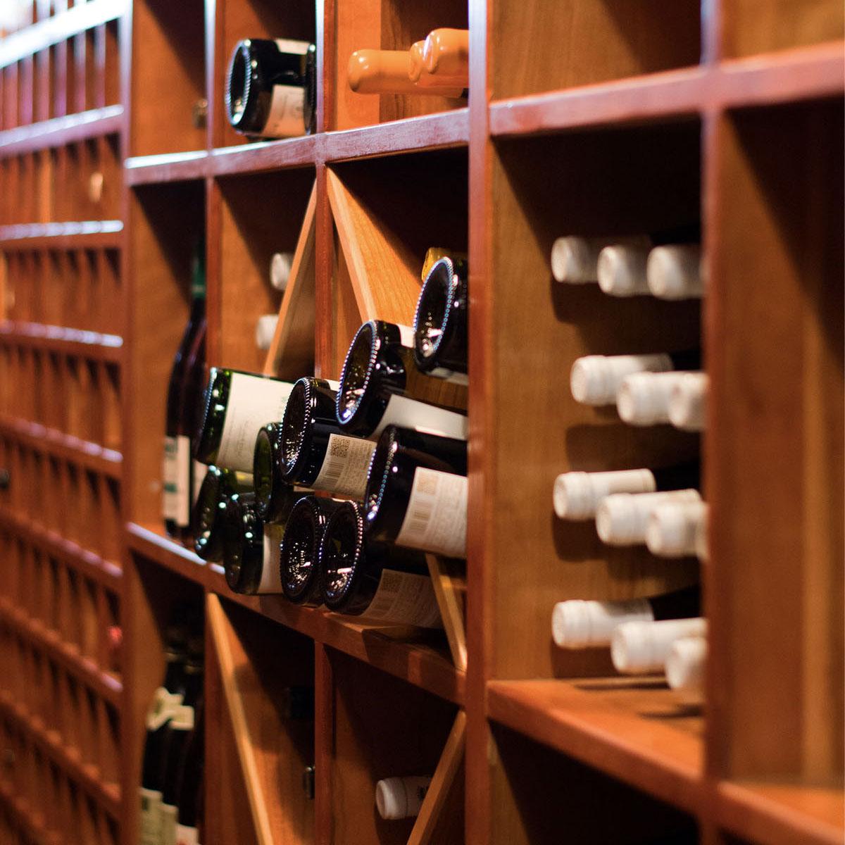 Winer cellar at River Café