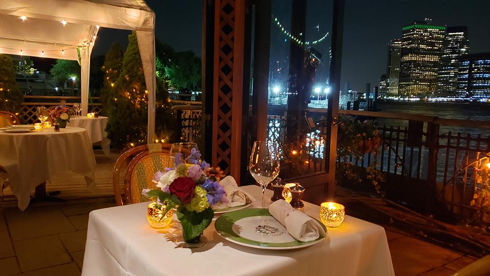 New York Restaurant. Fine Dining. River Cafe